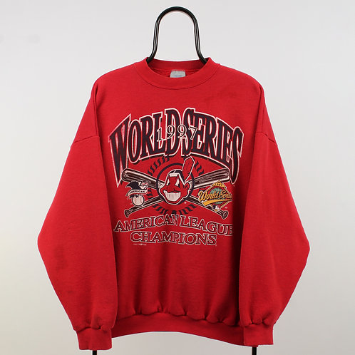 Logo 7 Vintage 90s MLB Cleveland Indians Sweatshirt