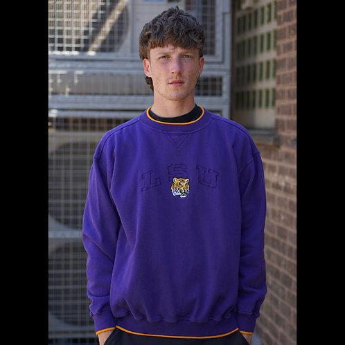 Vintage Purple LSU Tigers NCAA Sweatshirt