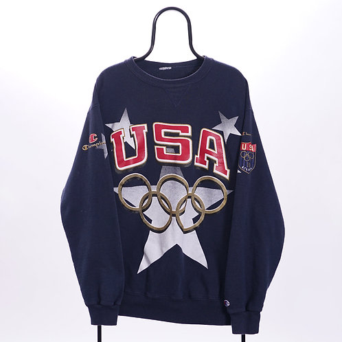 Champion Vintage Navy USA Olympics Sweatshirt