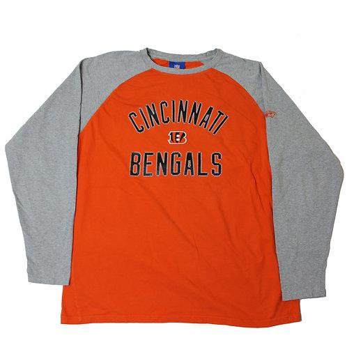 Reebok 'NFL Cincinati Bengals' Orange Long Sleeved T-shirt