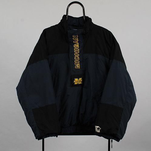 Starter Michigan Wolverines 1/4 Zip Jacket