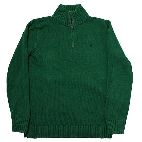 Ralph Lauren Green 1/4 Zip Sweater