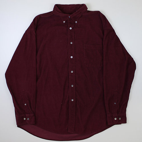 Vintage Maroon Corduroy Shirt