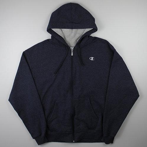 Champion Navy Zip-Up Hoodie