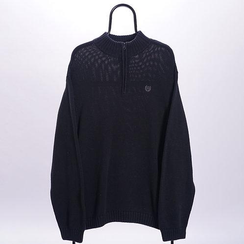 Chaps Ralph Lauren Black 1/4 Zip Sweater