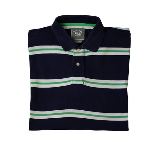 Fila Navy & Green Striped Polo