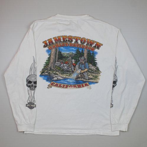 Harley-Davidson 'Jamestown' Graphic White Top