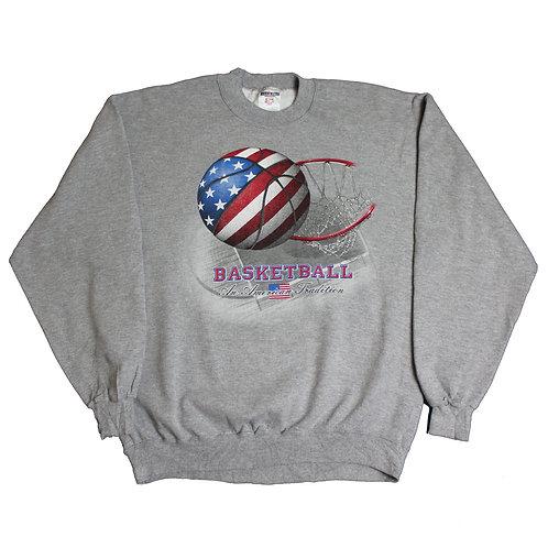 Vintage 'Basketball' Grey Sweater