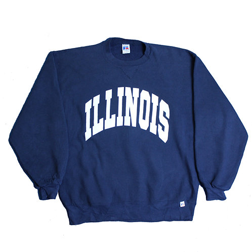 Russell Athletic 'Illinois' Navy Sweater