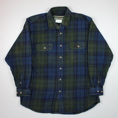 Vintage Green & Blue Flannel Shirt