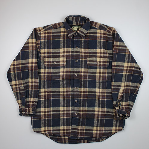 Vintage Brown & Navy Flannel Shirt
