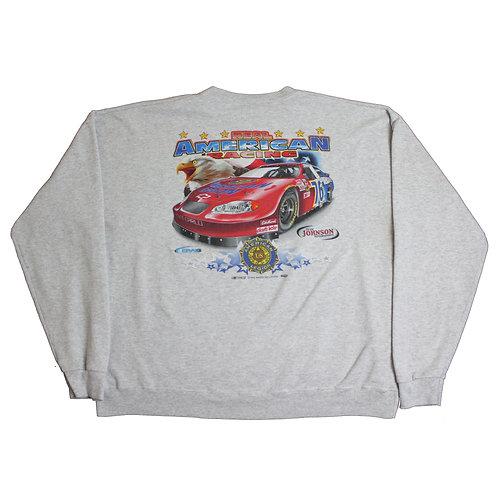 Vintage 'American Racing' Nascar Grey Sweater