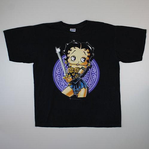 Vintage Betty Boop 'Warrior' T-Shirt
