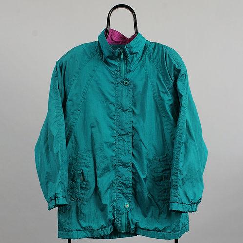 Vintage Teal Windbreaker Jacket
