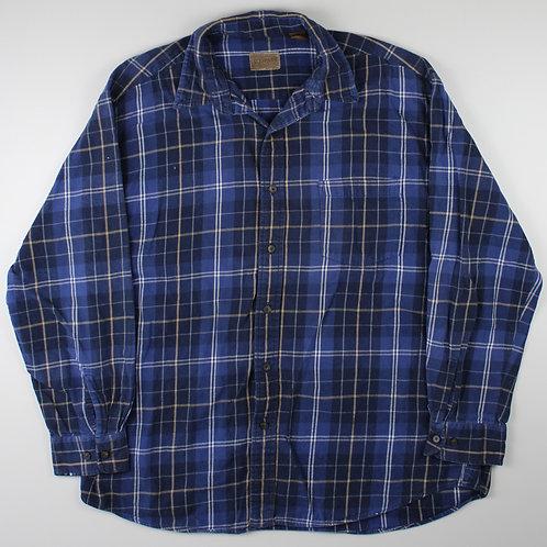 Vintage Navy Flannel Shirt