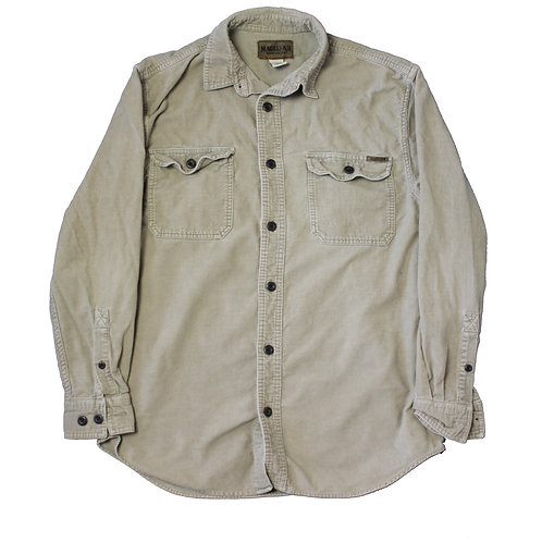 Vintage Beige Corduroy Shirt