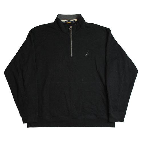 Natuica Black 1/4 Zip Sweater