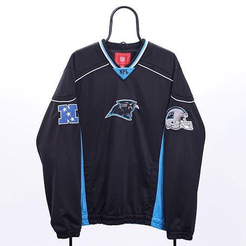 NFL Vintage Black Carolina Panthers Tracksuit Top