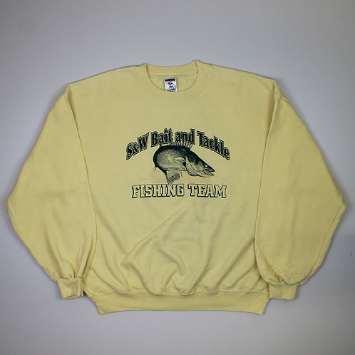 Vintage 'Fishing Team' Yellow Sweater