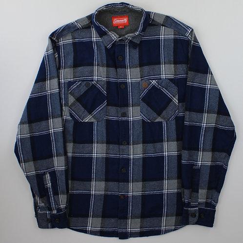 Vintage Navy Check Flannel Shirt
