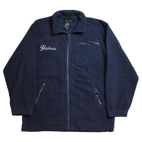 Yankees Navy Zip-Up Fleece