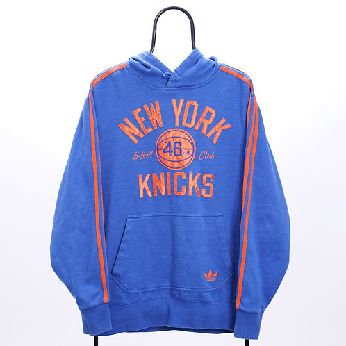 Adidas Vintage Blue New York Knicks NBA Hoodie
