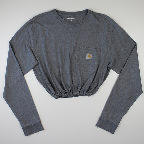 Carhartt Reworked Grey Cropped T-Shirt
