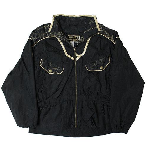 Vintage Black & Gold Tracksuit Top