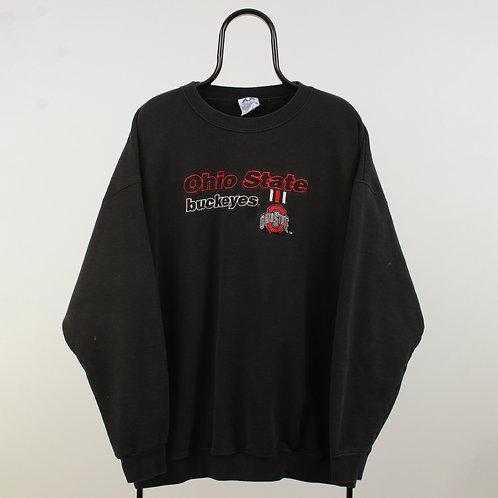 Vintage Black Ohio State NCAA Sweatshirt