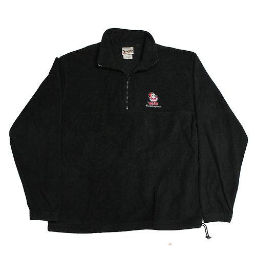 Disney Black 1/4 Zip Fleece