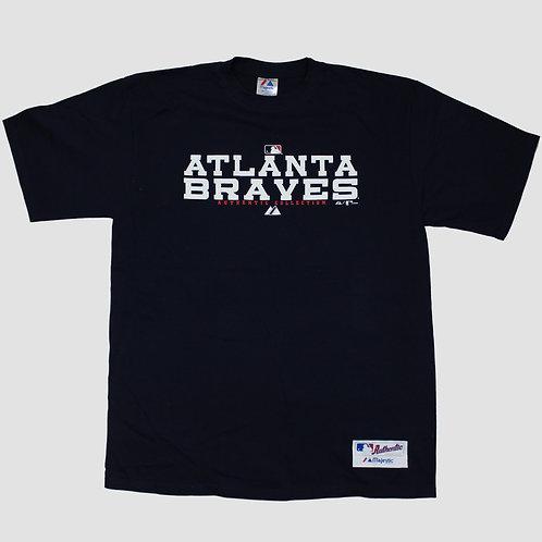 Majestic 'Atlanta Braves' Navy T-shirt
