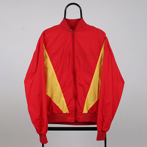 Vintage Red and Yellow Windbreaker Jacket