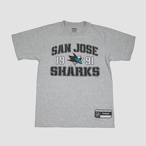 Reebok Grey San Jose Sharks T-Shirt
