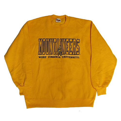 Vintage Yellow 'Mountaineers' Sweater