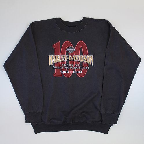 Harley Davidson '100 Years' Black Sweater