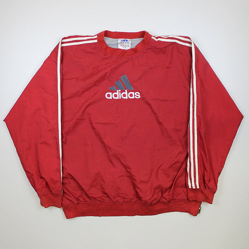 Adidas 'Spellout' Red Tracksuit Top