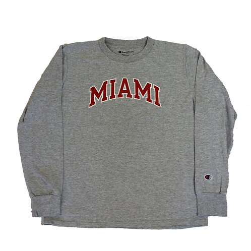 Champion 'Miami' Grey Long Sleeved T-shirt