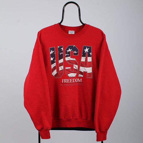Vintage Red USA Sweatshirt