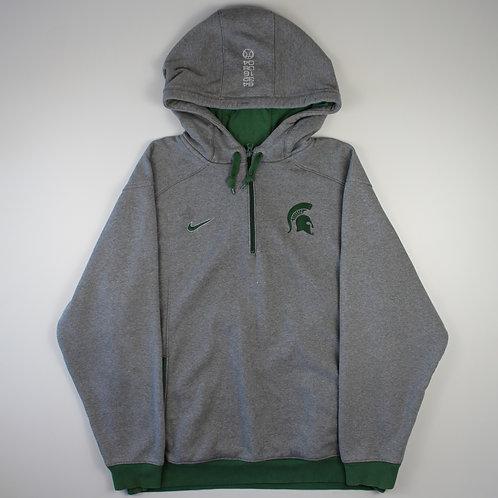 Nike Grey 'Michigan State Spartans' Hoodie