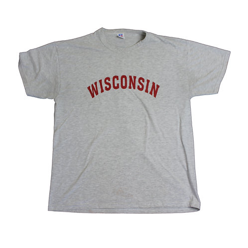 Russell Athletic 'Wisconsin' Grey T-shirt