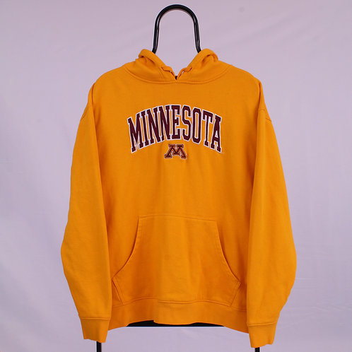 Vintage Yellow Minnesota Spell out Hoodie