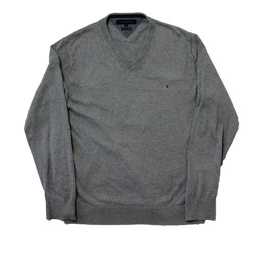 Tommy Hilfiger Grey V-neck Sweater