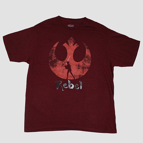Disney 'Rebel' Star Wars Marron T-shirt