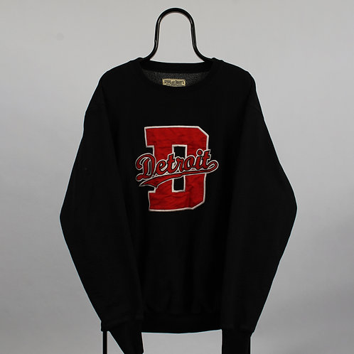 Vintage Steve and Barrys Black Detroit Sweatshirt