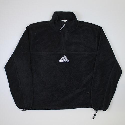 Adidas Black 1/4 Zip Fleece
