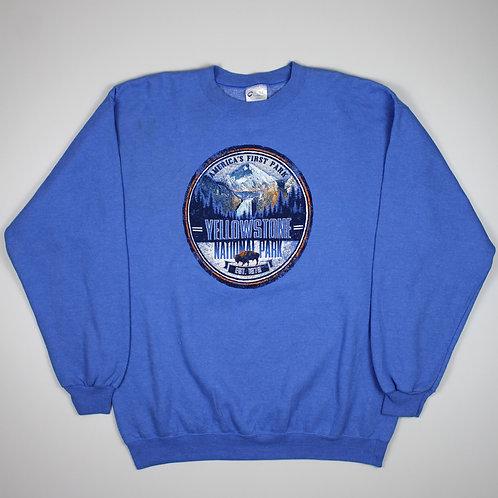 Vintage 'Yellowstone' Blue Sweater