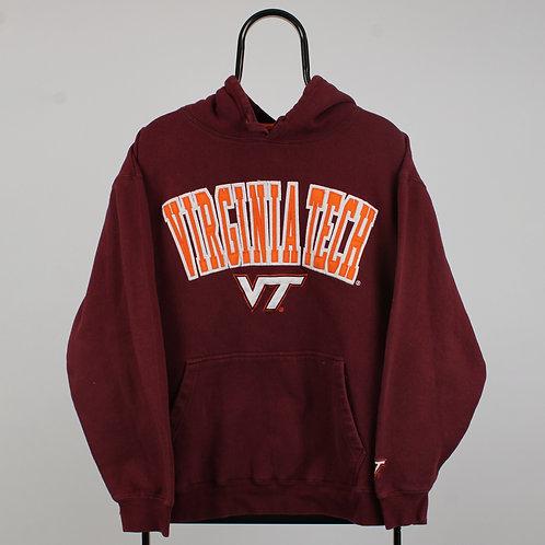 Vintage Maroon Spell Out Virginia Tech Hoodie