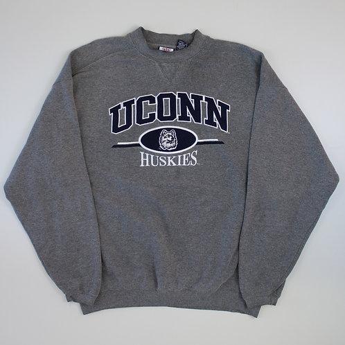 Vintage 'Uconn Huskies' Grey Sweater