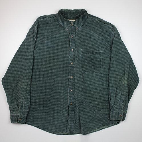 Eddie Bauer Green Corduroy Shirt