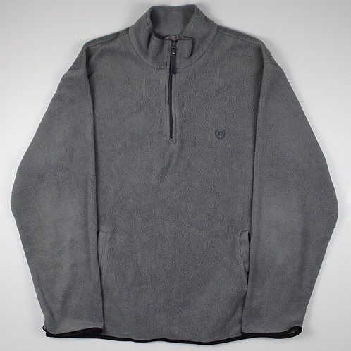Ralph Lauren Chaps Grey 1/4 Zip Fleece